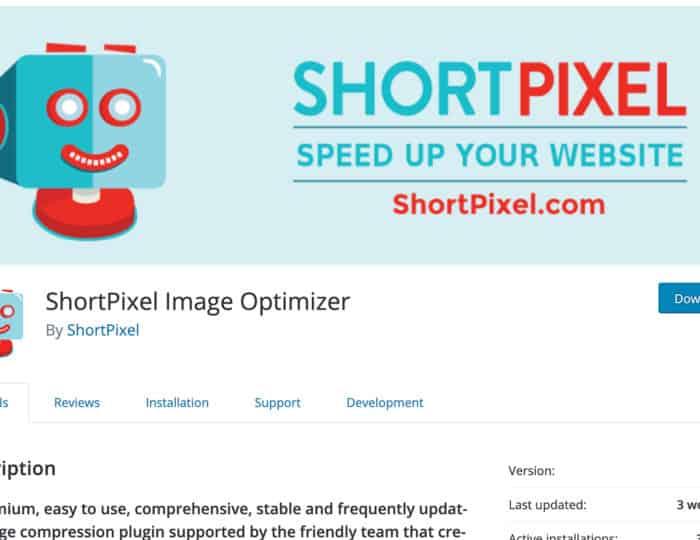 Image Optimisation with ShortPixel